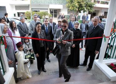 SA la Princesse Lalla Zineb préside la cérémonie d'inauguration de la garderie le