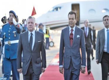 صاحب السمو الملكي الأمير مولاي رشيد يستقبل صاحب الجلالة الملك عبد الله الثاني عاهل المملكة الأردنية الهاشمية