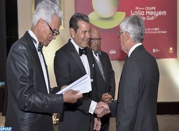 SAR le Prince Moulay Rachid préside un dîner offert par SM le Roi en l'honneur des invités du Trophée Hassan II et de la Coupe Lalla Meryem de golf