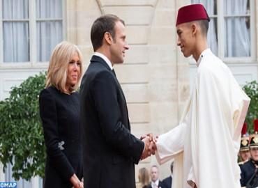 SAR el Príncipe Heredero Moulay El Hassan participa en el almuerzo ofrecido por Macron en honor de los Jefes de Estado y de Gobierno presentes en el funeral de Chirac