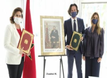 Su Alteza la Princesa Lalla Zineb recibe en Rabat a Marco Azran, director general del Grupo Orchestr