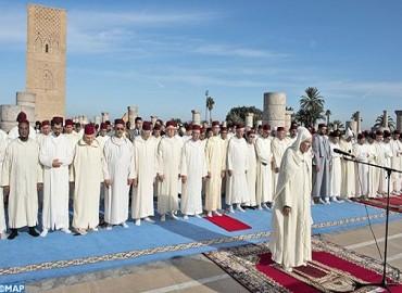 إقامة صلاة الاستسقاء بمسجد حسان في الرباط بحضور صاحب السمو الملكي ولي العهد الأمير مولاي الحسن