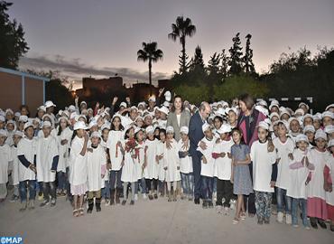 SAR la Princesse Lalla Hasnaa visite à Marrakech l'école Oum Al Fadl, inscrite au programme Eco-écoles