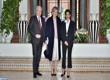 SAR la Princesse Lalla Meriem reçoit la Princesse Astrid, représentante de SM le Roi des belges