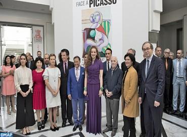 """SAR la Princesse Lalla Salma inaugure l'exposition """"Face à Picasso"""" au Musée Mohammed VI d'art moderne et contemporain à Rabat"""