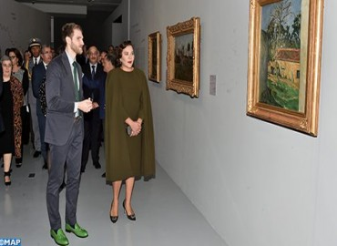 HRH Princess Lalla Hasnaa Chairs in Rabat Inauguration of Exhibition 'Colors of Impressionism: Masterpieces from Musée d'Orsay's Collections'