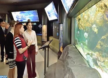 صاحبة السمو الملكي الأميرة للاحسناء تزور مركز فانكوفر للعلوم البحرية