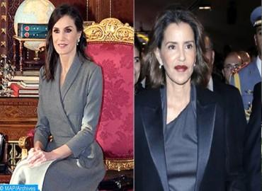 Queen Letizia of Spain and HRH Princess Lalla Meryem Visit Second Chance School in Salé
