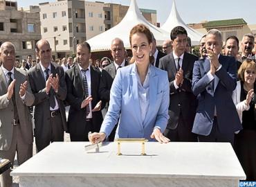 صاحبة السمو الملكي الأميرة للا سلمى تضع الحجر الأساس لبناء المركز الجهوي للأنكولوجيا بوجدة