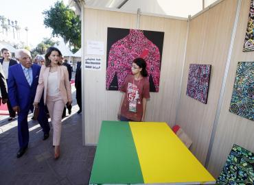 صاحبة السمو الملكي الأميرة للا مريم تترأس بمراكش الافتتاح الرسمي للدورة الرابعة للتظاهرة الفنية