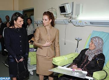 RH Princess Lalla Salma And Gabon First Lady Visit Oncology Hospital In Fez