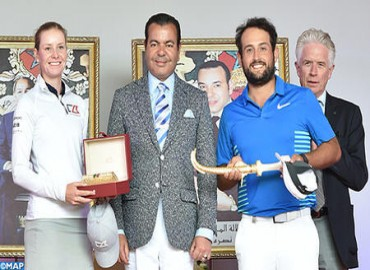 HRH Prince Moulay Rachid Chairs Award Ceremony of 45th Hassan II Golf Trophy, 24th HRH Princess Lalla Meryem Cup