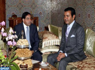 SAR el Príncipe Moulay Rachid recibe al presidente de la Empresa Jordana de Fosfatos