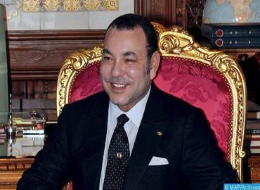 SM le Roi félicite SA Cheikh Khalifa Ben Zayed Al Nahyane à l'occasion de sa réélection Président du Conseil supérieur de l'État des Émirats arabes unis