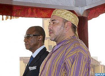 Arrivée de SM le Roi à Conakry