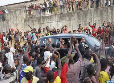Le tout Conakry à l'accueil de SM le Roi