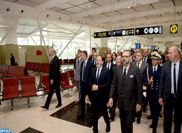 جلالة الملك يدشن المحطة الجوية 1 الجديدة لمطار محمد الخامس ويعطي انطلاقة تشغيل عدد من البنيات التحتية للمطارات ذات البعد الوطني