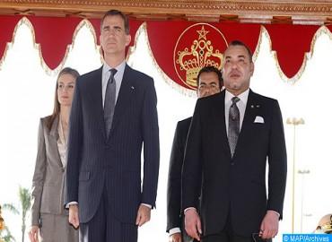 Ceremonia de bienvenida oficial en Rabat de SM el Rey Felipe VI de España y de la Reina Letizia
