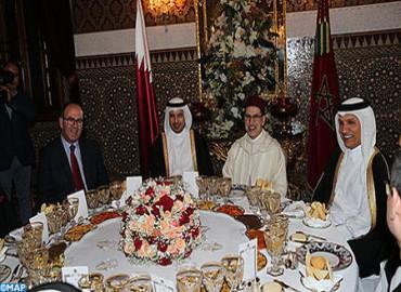 SM le Rey ofrece una cena en honor del primer ministro y ministro del Interior de Qatar