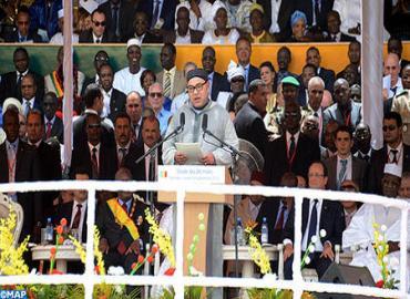 نص الخطاب الذي ألقاه جلالة الملك خلال حفل تنصيب الرئيس المالي الجديد بباماكو
