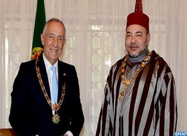 جلالة الملك يجري مباحثات على انفراد مع الرئيس البرتغالي