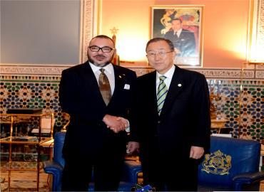 SM le Roi reçoit le secrétaire général des Nations Unies