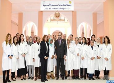 SM el Rey inaugura dos proyectos solidarios destinados a reforzar la oferta médica en la medina de Marrakech
