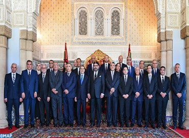 Su Majestad el Rey recibe al jefe de gobierno y a los miembros del gobierno en su nueva versión tras su reestructuración