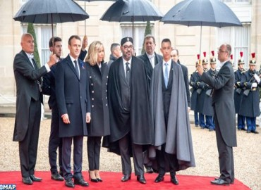 HM the King Arrives in Elysee Palace to Take Part in International Ceremony in Commemoration of Centenary of Armistice