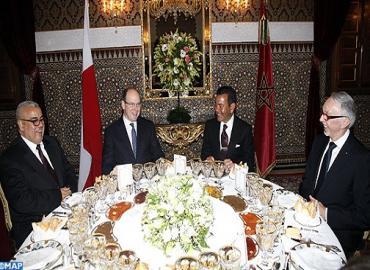 صاحب السمو الملكي الأمير مولاي رشيد يترأس مأدبة عشاء أقامها صاحب الجلالة الملك محمد السادس على شرف صاحب السمو ألبير الثاني أمير موناكو