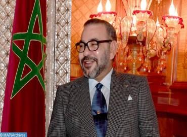 SM le Roi félicite le Président de la République française à l'occasion de la fête nationale de son pays