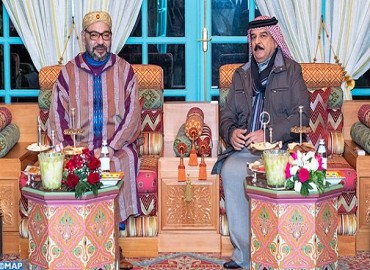HM the King Meets in Rabat with Sovereign of Bahrain Who is On Private Visit to Morocco