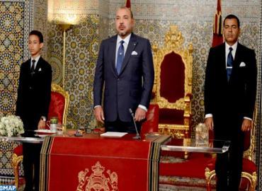 SM el Rey Mohammed VI dirige un discurso a la Nación con motivo del 62 aniversario de la Revolución del Rey y del Pueblo