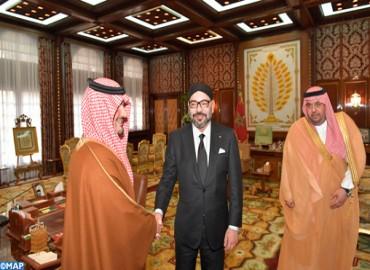 HM the King Receives Saudi Interior Minister, HRH Prince Abdulaziz bin Saud bin Nayef bin Abdulaziz