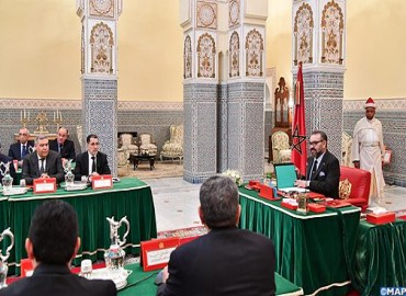 HM the king Chairs in Marrakech Council of Ministers