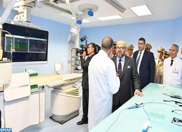 SM le Roi inaugure le Centre de Cardiologie de l'Hôpital militaire d'instruction Mohammed V de Rabat