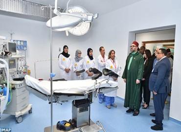 SM le Roi inaugure à l'arrondissement Sidi Moumen un Centre médical de proximité - Fondation Mohammed V pour la Solidarité- destiné à consolider l'offre de soins en faveur de populations vulnérables