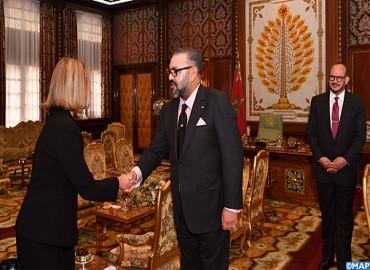 جلالة الملك محمد السادس يستقبل السيدة فيديريكا موغيريني