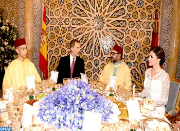 HM the King Hosts Official Dinner in Honor of Their Majesties King Felipe VI and Queen Letizia of Spain