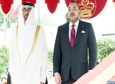 Cérémonie d'accueil officiel à Casablanca de SA Cheikh Mohammed Ben Zayed Al-Nahyane