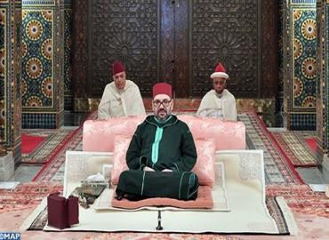 SM le Roi, Amir Al Mouminine, préside la troisième causerie religieuse du mois sacré de Ramadan