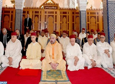 HM the King, Commander of the Faithful, Performs Friday Prayer at Hassan Mosque in Rabat