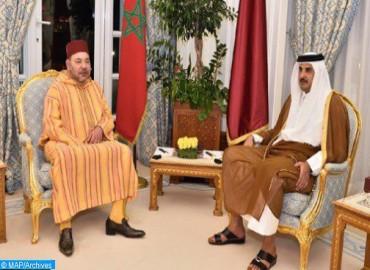 جلالة الملك يجري اتصالا هاتفيا بالشيخ تميم بن حمد آل ثاني أمير دولة قطر