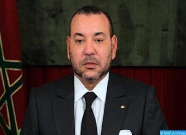 برقية تعزية ومواساة من جلالة الملك إلى عاهل المملكة الأردنية الهاشمية