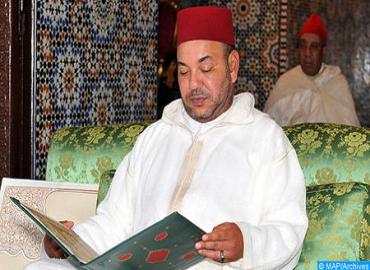 SM el Rey, Amir Al Mouminin, preside hoy miércoles la tercera charla religiosa del mes de Ramadán