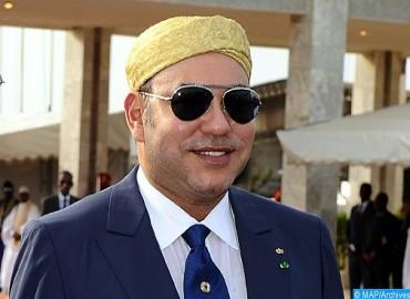 جلالة الملك يهنئ الرئيس الغيني بمناسبة عيد استقلال بلاده