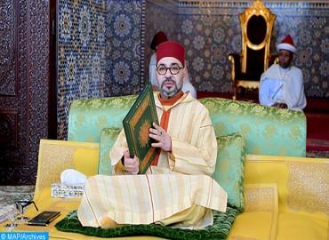 SM le Roi, Amir Al Mouminine, préside à Casablanca la cinquième causerie religieuse du mois de Ramadan
