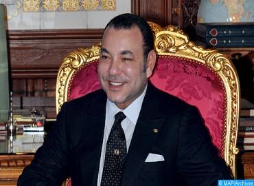 SM el Rey felicita a Abdelhakim Benchamach tras su reelección como presidente de la Cámara de Consejeros