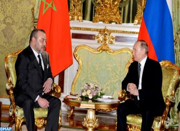 SM le Roi a eu un long entretien téléphonique avec le Président de la Fédération de Russie