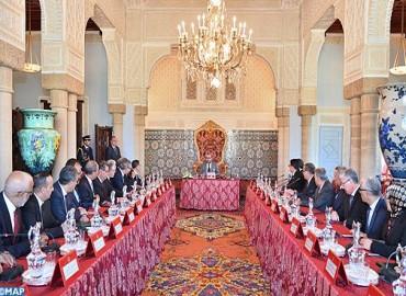 SM el Rey preside en Rabat un Consejo de los Ministros